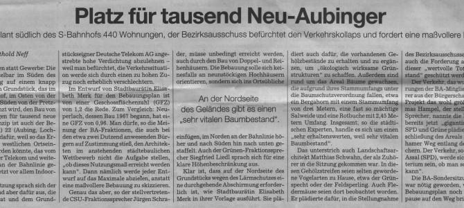 Platz für tausend Neu-Aubinger